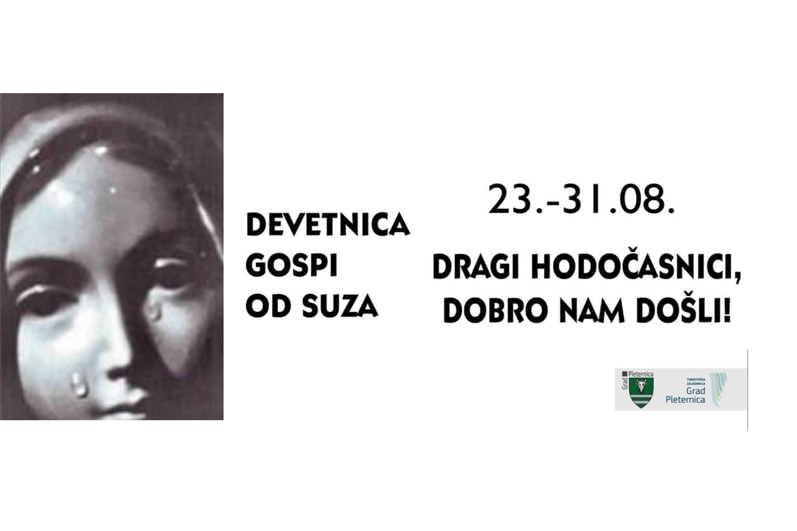 """Danas završno misno slavlje Devetnice Gospi od suza: """"Dragi hodočasnici, dobro došli!"""""""